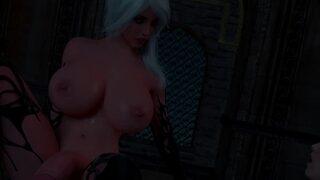 3D futanari fantasy aniamtion with big tits babes